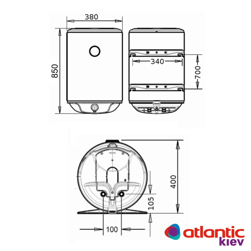 Схема водонагревателя Atlantic Steatite Slim VM 50 D325-2-BC