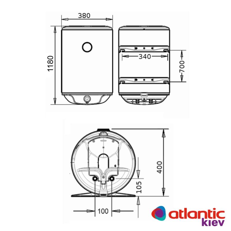 Схема водонагревателя Atlantic Steatite Slim VM 80 D325-2-BC