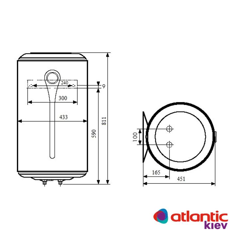Схема бойлера Atlantic O'ProP VM 080 D400-1-M