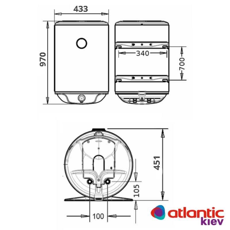 Схема бойлера Atlantic O'ProP VM 100 D400-1-M