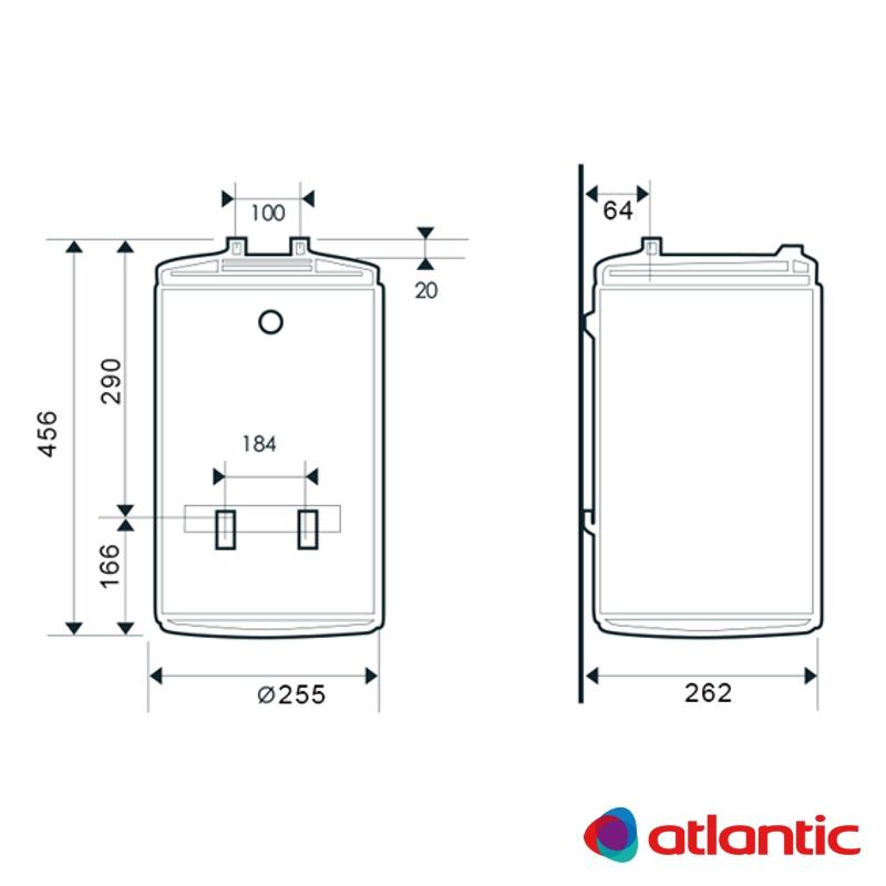 Схема водонагревателя Atlantic O'Pro Slim PC 10 SB