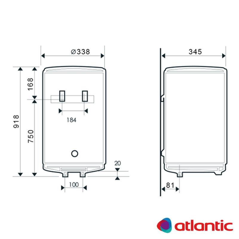 Схема водонагревателя Atlantic O'PRO Slim PC 50