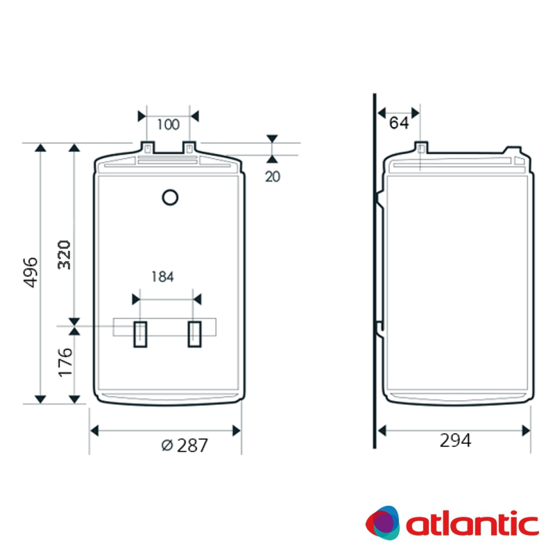 Схема водонагревателя Atlantic O'Pro Slim PC 15 R